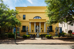 Telfair Museum Savannah. Savannah, GA USA - April 25, 2016: The popular Telfair Museum in the historic district of Savannah was the first public art museum in Royalty Free Stock Photography