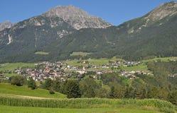Telfes, Stubaital,提洛尔,奥地利 免版税库存照片