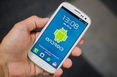Teléfono androide Foto de archivo libre de regalías