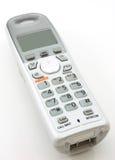 Teléfono casero portable blanco Imagen de archivo libre de regalías