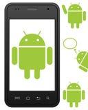 Teléfono celular androide genérico Fotos de archivo libres de regalías