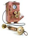 Teléfono de cobre. Fotos de archivo libres de regalías