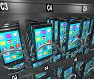 Teléfono de compra del teléfono de la máquina expendedora elegante del teléfono móvil Fotografía de archivo libre de regalías