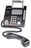Teléfono de Digitaces off-hook Foto de archivo libre de regalías