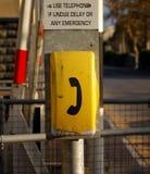 Teléfono de la emergencia Foto de archivo libre de regalías