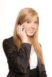 Teléfono de la mujer Imagenes de archivo