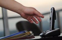 Teléfono de la oficina Imágenes de archivo libres de regalías