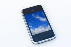 Teléfono elegante a disposición Fotos de archivo libres de regalías