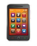 Teléfono elegante móvil Fotografía de archivo libre de regalías