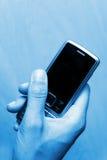 Teléfono móvil del asunto Fotos de archivo libres de regalías