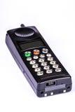 Teléfono móvil del vintage negro Foto de archivo libre de regalías