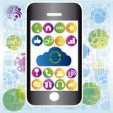 Teléfono móvil gris Imágenes de archivo libres de regalías