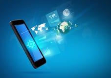 Teléfono móvil moderno de la tecnología de comunicación Foto de archivo