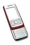 Teléfono móvil rojo del resbalador Imagenes de archivo