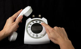 Teléfono para la llamada Foto de archivo libre de regalías