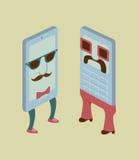 Teléfonos viejos y nuevos Imagen de archivo libre de regalías