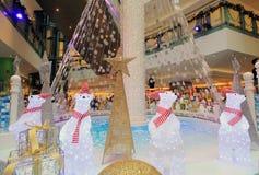 Telford广场圣诞节装饰 免版税库存照片