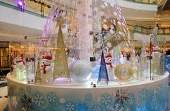 Telford广场圣诞节装饰 库存图片