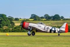 TELFORD,英国, 2018年6月10日- P-47D雷电 免版税图库摄影