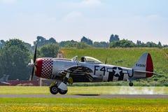 TELFORD, Reino Unido, o 10 de junho de 2018 - uma fotografia que documenta um Th de P-47D fotografia de stock