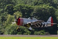 TELFORD, Reino Unido, o 10 de junho de 2018 - uma fotografia que documenta um Th de P-47D fotos de stock