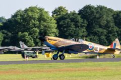TELFORD, UK, JUNE 10, 2018 - A Supermarine Spitfire stock photo