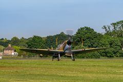 TELFORD, UK, JUNE 10, 2018 - A Supermarine Spitfire Royalty Free Stock Images