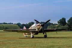 TELFORD UK, JUNI 10, 2018 - en RAF Hawker Hurricane står på a royaltyfri fotografi