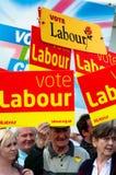 TELFORD, UK - MAY 4: Crowds await PM Gordon Brown Royalty Free Stock Photos