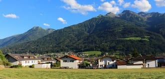 Telfs in Tyrol. View over the city Telfs in Tyrol, Austria Stock Image