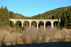 Telgart. Railway bridge near Telgart slovakia Stock Photo