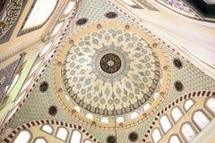 Telha artística da parede de Fatih Mosque Turkish Fotos de Stock
