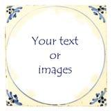 Telha azul holandesa de Delft com quarto para o texto Fotos de Stock Royalty Free