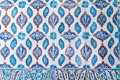 Telha azul turca tradicional Fotografia de Stock Royalty Free