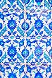 Telha azul turca Handmade imagem de stock