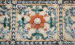 Telha de China Deta arquitetónico de China da textura abstrata do fundo Foto de Stock