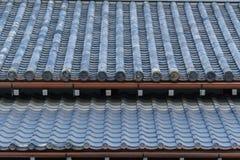 Telha de Gable Roof do castelo de Nijo imagem de stock
