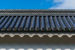 Telha de Gable Roof do castelo de Nijo imagem de stock royalty free
