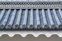Telha de Gable Roof do castelo de Nijo fotografia de stock