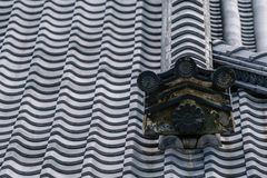 Telha de Gable Roof do castelo de Nijo imagens de stock royalty free