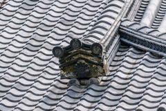 Telha de Gable Roof do castelo de Nijo foto de stock royalty free