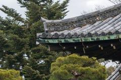 Telha de Gable Roof do castelo de Nijo foto de stock