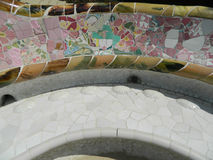 Telha de mosaico de vidro multicolorido Fotografia de Stock