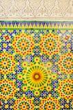 Telha de mosaico marroquina, decoração cerâmica da mesquita de Hassan II, Casablanca, Marrocos ilustração royalty free
