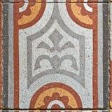 Telha de pavimentação quadrada antiga Fotos de Stock Royalty Free
