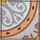 Telha de pavimentação quadrada antiga Foto de Stock Royalty Free