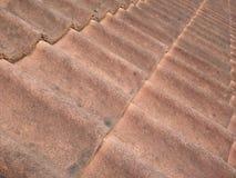 Telha de telhado verde Foto de Stock