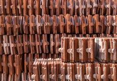Telha de telhado verde Fotos de Stock