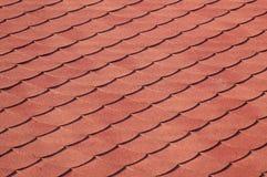Telha de telhado vermelha no sol Foto de Stock Royalty Free