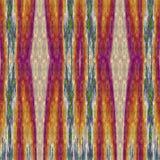 Telha decorativa abstrata com testes padrões da tira em cores do outono ilustração do vetor
